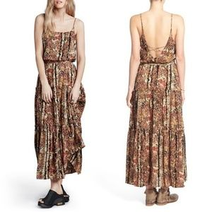 Free People Valerie Floral Maxi Dress L